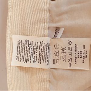 Cheap Monday Jeans - Cheap Monday Second Skin washed white jeans.30x32